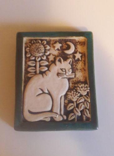 George Carruth Studios Cat Stone Garden Plaque-1996