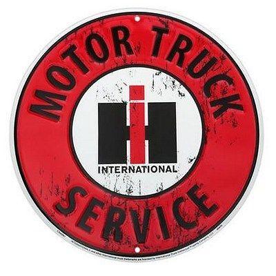 IH Round Motor Truck Service Sign