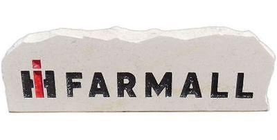 IH Farmall Engraved Limestone Porch/Desk Stone  12