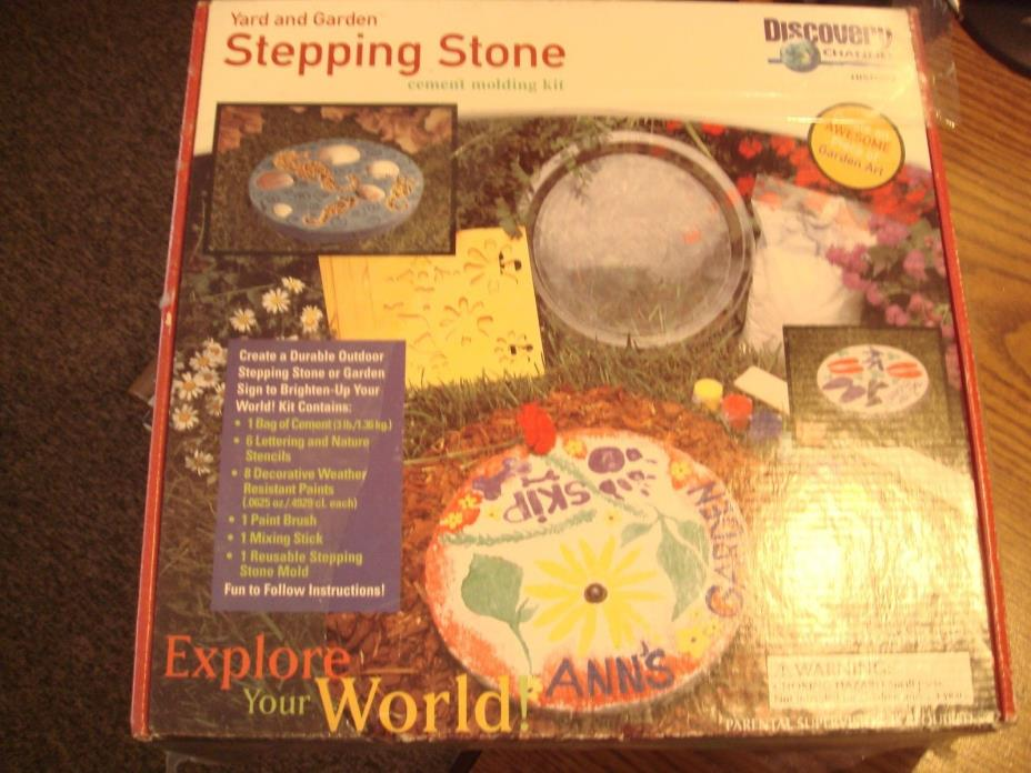 Discovery Channel Stepping Stone Cement Molding Kit New in Sealed Package Craft