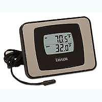 Taylor 1522 Digital Thermometer, 32 - 122 deg F and -40 TO 158 deg F, +/-1.8,