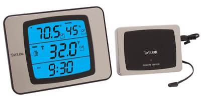 Weather Guide w Wireless Remote in Black & Silver [ID 37816]