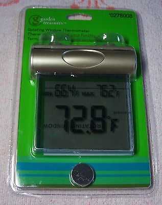 NIP Garden Treasures Rotating Window Thermometer Inside/Outside window Mounting