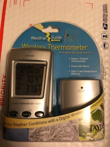 Taylor Precision 1542 WeatherGuide Wireless Thermometer Programmable Temp Alert
