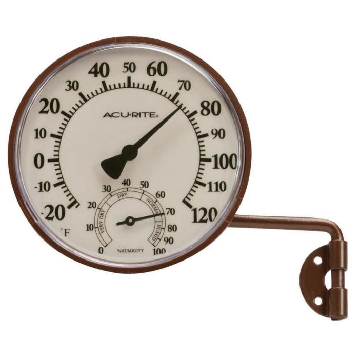 AcuRite Wireless Indoor/Outdoor Brass Swing Arm Thermometer
