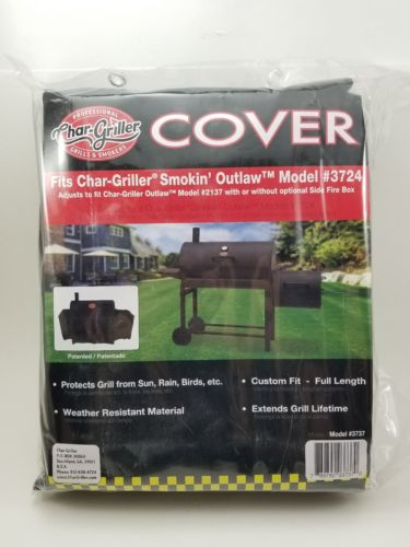 Char-Griller 3737 Smokin' Outlaw Cover Fits 2137 Charcoal. Custom Fit Sun & Rain