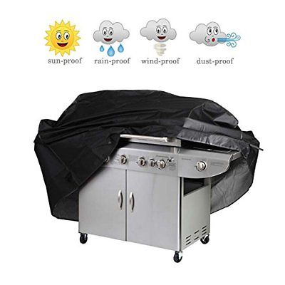 Wakeach Grill Cover 67-inch Waterproof Heavy-Duty Premium BBQ Gas Barbeque Black