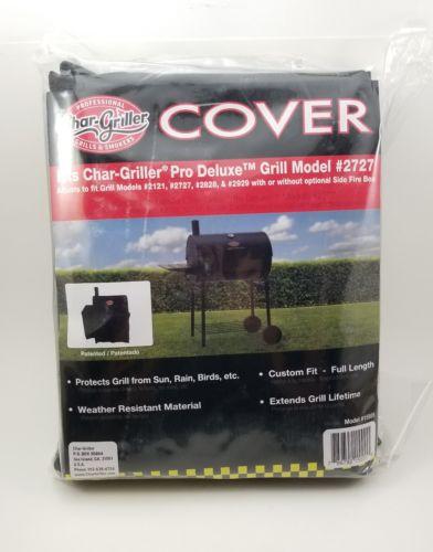 Char-Griller Smoker Deluxe Cover #2727 Custom Fit Black Weather Sun, Rain, Birds