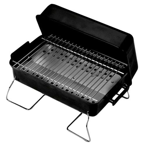 Portable BBQ Grill Charcoal Barbecue Lock Lid Rectangular Outdoor Garden Cooking