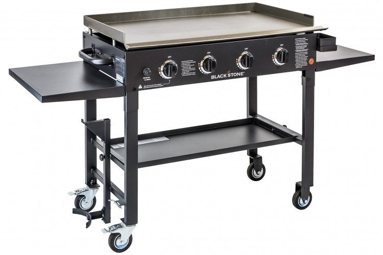 Gas Grill Griddle Flat Top Outdoor Commercial Grade With 4 Burners On Wheels New