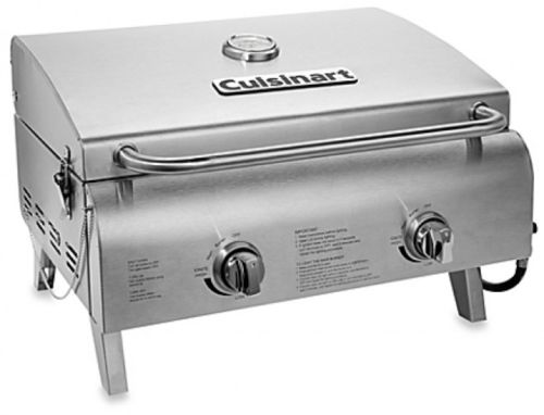 Cuisinart Stainless Gas Grill Portable Kitchen Outdoor Cooker Propane Burner