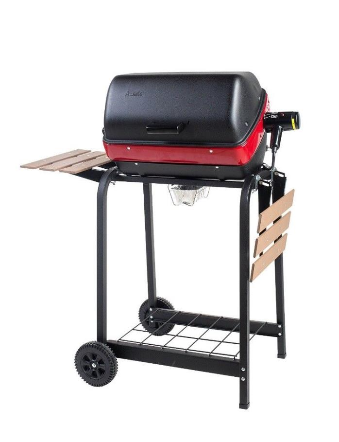 Easy Street Electric Cart Grill two folding composite-wood side tables 200 sq in