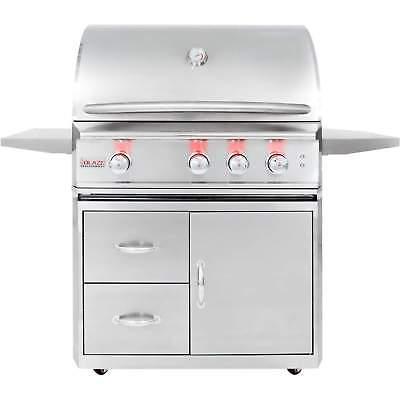 Blaze Professional Freestanding Propane Gas Grill w/ Rear IR Burner, 34