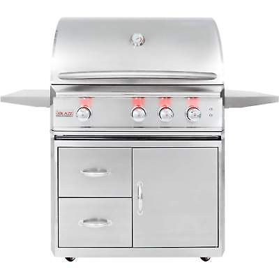 Blaze Professional Freestanding Natural Gas Grill w/ Rear IR Burner, 34
