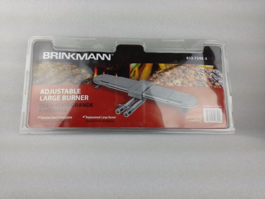 NEw BRINKMANN ADJUSTABLE LARGE BURNER BBQ GRILL STAINLESS STEEL 812-7248-S