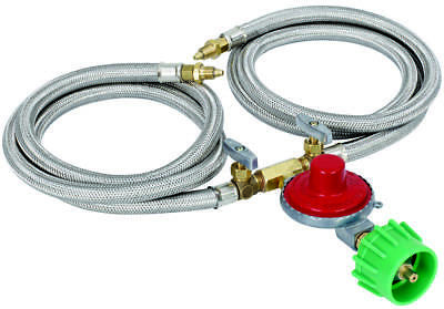Barbour Bayou Classic LPG Regulator Kit With Dual Hose, 10 psi, 1/8 in Male