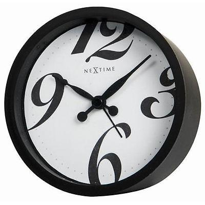 Nextime Table Clock with Alarm, Bonjour Black 5170zw - NEW in Box