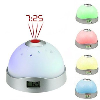 Alarm Clock For Kids Projection Wake Up Night Light Digtal Reflect Clocks Home