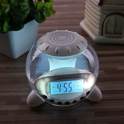 Alarm Clock Digital Wake Up Light With 6 Natural Sounds For Kids & Home Decor