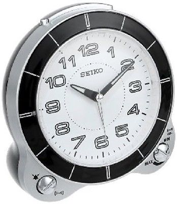 *BRAND NEW* Seiko Round White Dial Alarm Clock Watch QHK031SLH