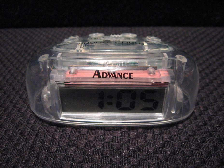 Advance Clear See Through Prison/Jail Issue Personal Battery Powered Alarm Clock