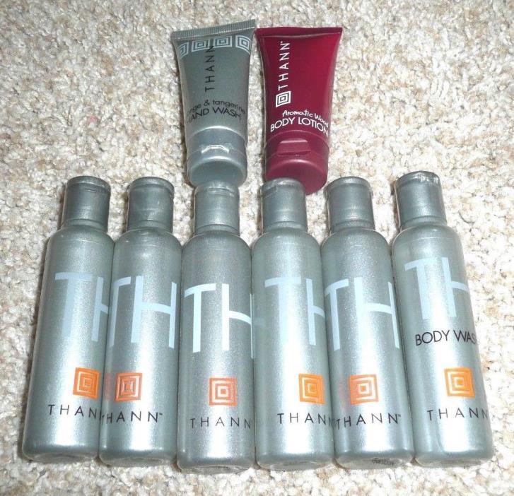 Lot of 9 Thann Shower Gel, Lotion, Body Wash, Hand Wash, Shampoo[ NEW
