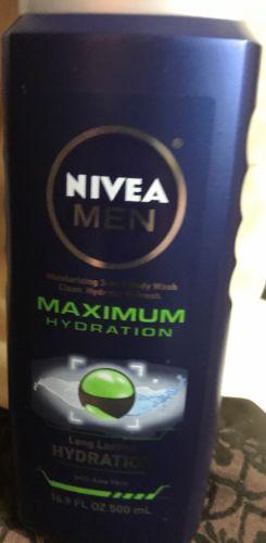 Lot Of 3 Men's Nivea Maximum Hydration 3-In-1 Body Wash 16.9 Oz Each