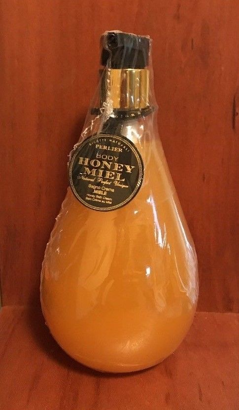 Perlier Honey Miel Bath Cream 16.9 oz Decorative Pump Bottle - NEW & SEALED!