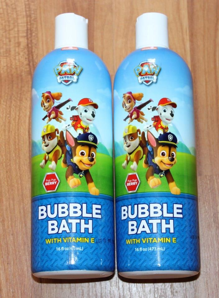 Lot of 2 Paw Patrol Pup Pup Berry bubble bath 16 oz. NEW #992