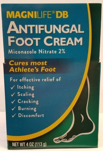 MagniLife DB Antifungal Foot Cream,  Miconazole ATHLETE'S Pain Relief - 4 oz
