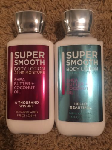 Bath & Body Works Lot Of 2 Lotion 8 Oz Hello Beautiful A Thousand Wishes