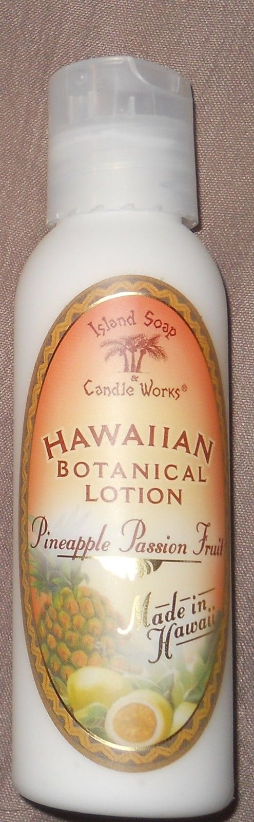 Hawaiian Botanical Lotion PINEAPPLE PASSION FRUIT 2 Oz  by Island Soap & Candle