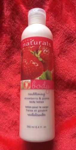 Avon Naturals Conditioning Body Lotion Strawberry And Guava 8.4oz. NEW