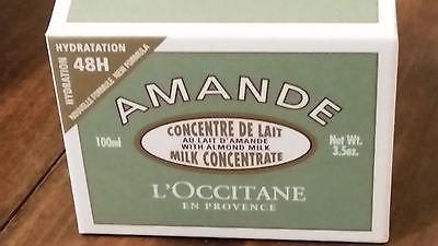 L'Occitane Almond Milk Concentrate Amande Creme Cream 3.5oz NEW In Box