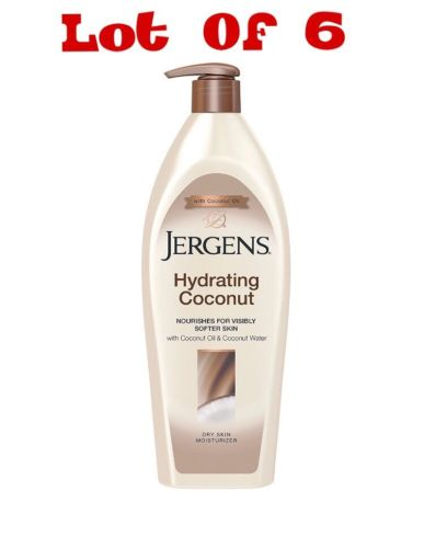 Jergens Hydrating Coconut Dry Skin Moisturizer 16.8 oz (Pack of 6) SALE!