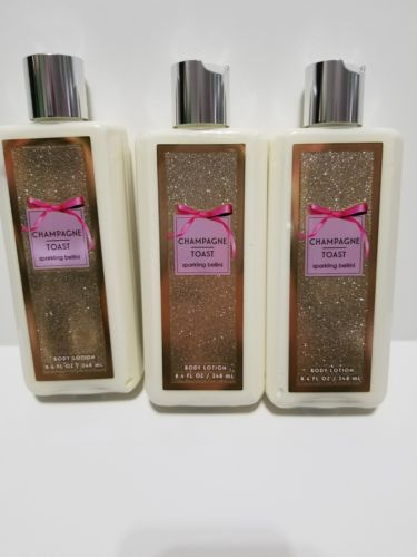 Bath Body Works CHAMPAGNE TOAST Sparkling Bellini Body Lotion Lot Full Size New
