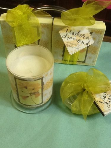 Isadora Diamond Marigold & Poppy Seeds Soaps & Candle Set