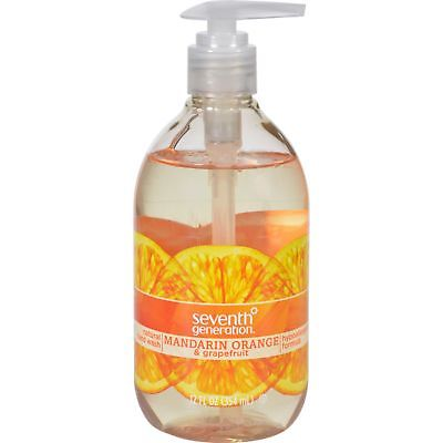 Seventh Generation Hand Wash - Natural - Orange Grpfr - 12 fl oz - 1 Case