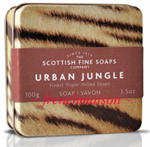 SCOTTISH FINE SOAPS URBAN JUNLE TIGER TIN Gift Box Dad/Him/Men New SPICY MUSK
