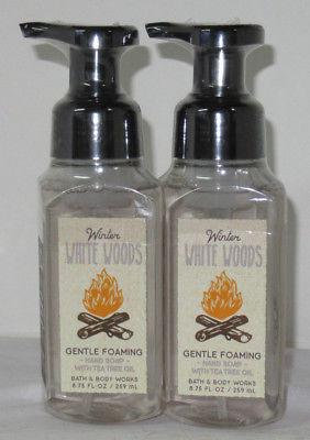 Bath & Body Works Gentle Foaming Hand Soap Lot Set of 2 WINTER WHITE WOODS