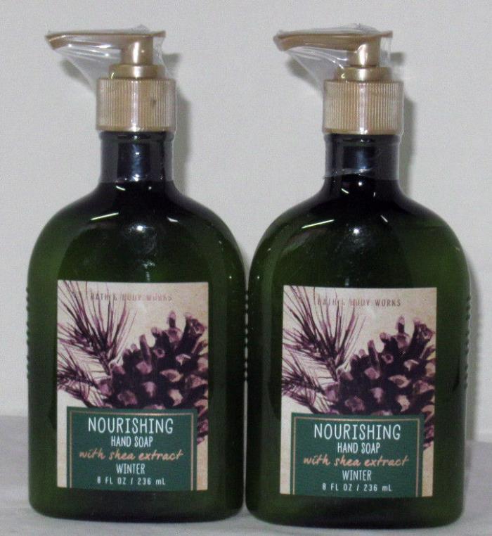Bath & Body Works Nourishing Hand Soap w/ shea extract Lot Set of 2 WINTER
