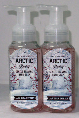 Bath & Body Works Gentle Foaming Hand Soap Lot Set of 2 ARCTIC BERRY