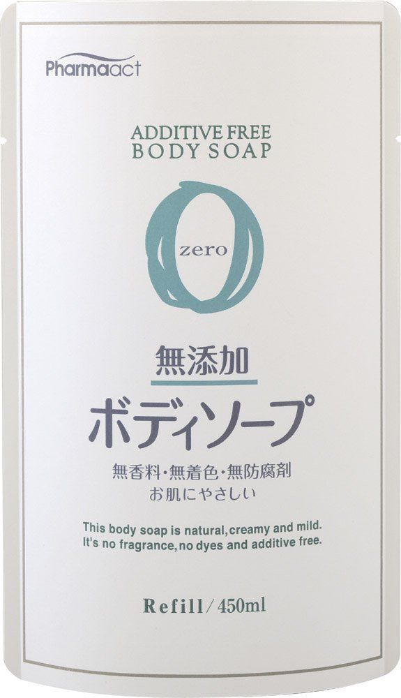 Pharmaact additivefree body soap Refill 450ml From Japan
