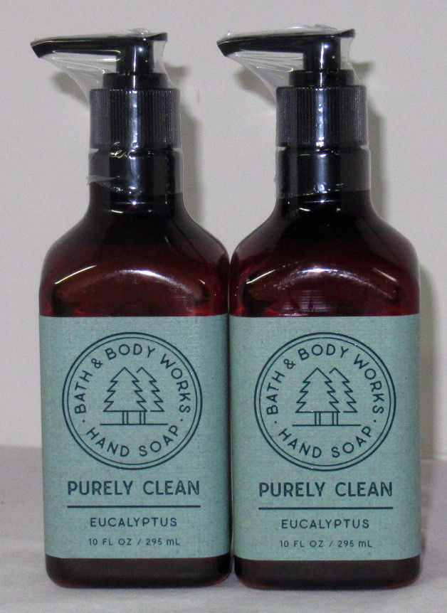 Bath & Body Works Purely Clean Hand Soap 10 fl oz Lot Set of 2 EUCALYPTUS