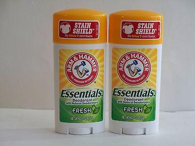 ( 2 ) Arm & Hammer Essentials Natural Deodorant Fresh - 2.5 oz/ea