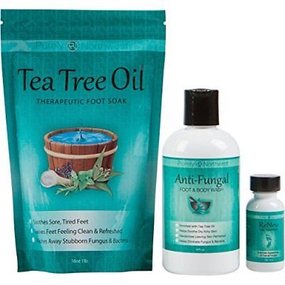 Purely Northwest Foot and Toenail System with 16 oz Tea Tree Oil Soak 9 fl Wash