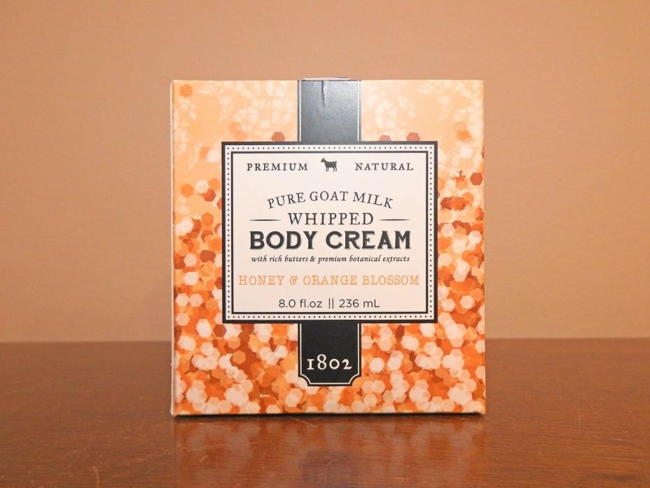 Beekman 1802 Pure Goat Milk Whipped Body Cream HONEY & ORANGE BLOSSOM  8.0 oz
