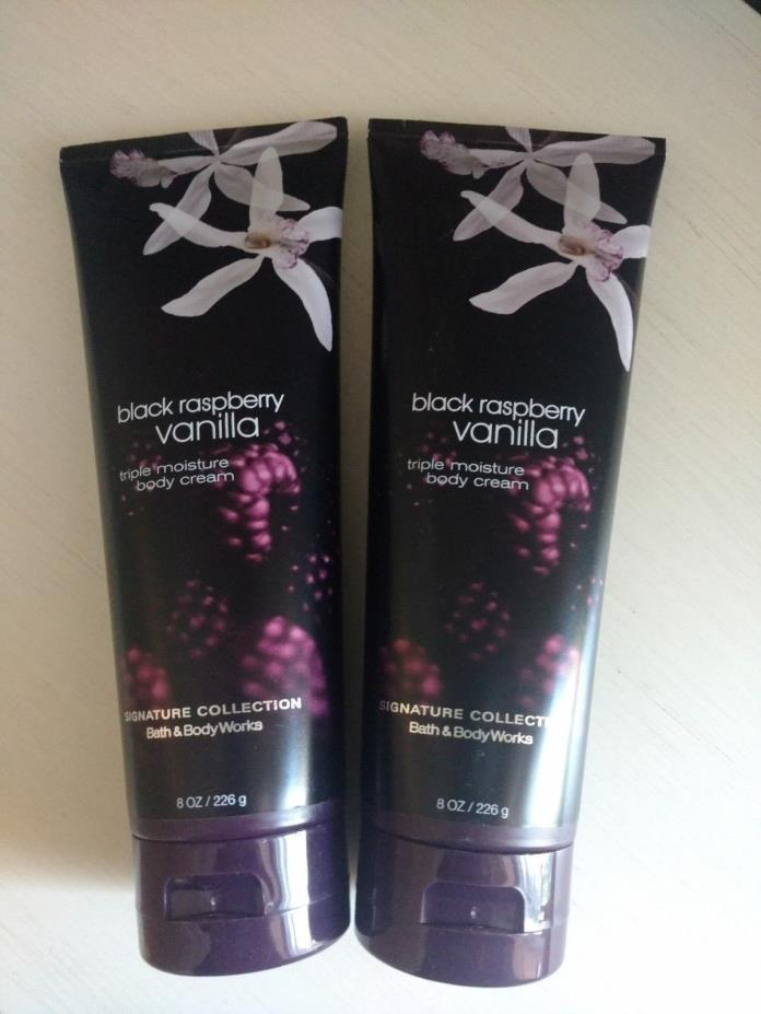 Bath and Body Works Black Raspberry Vanilla Body Cream X2 - New