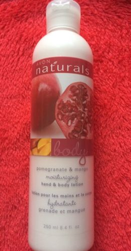 Avon Naturals Moisturizing Body Lotion Pomegranate And Mango 8.4oz. NEW
