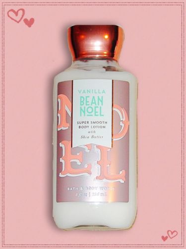 Bath and Body Works Vanilla Bean Noel Body Lotion Full Size 8 oz.